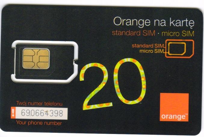 Ramka GSM ORANGE 2