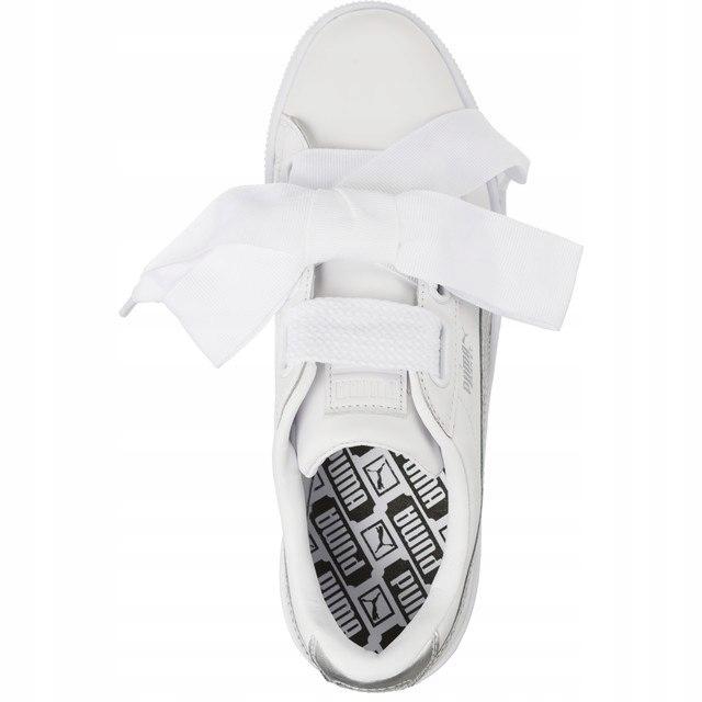 Sneakersy Buty Damskie Puma za kokardą białe 38