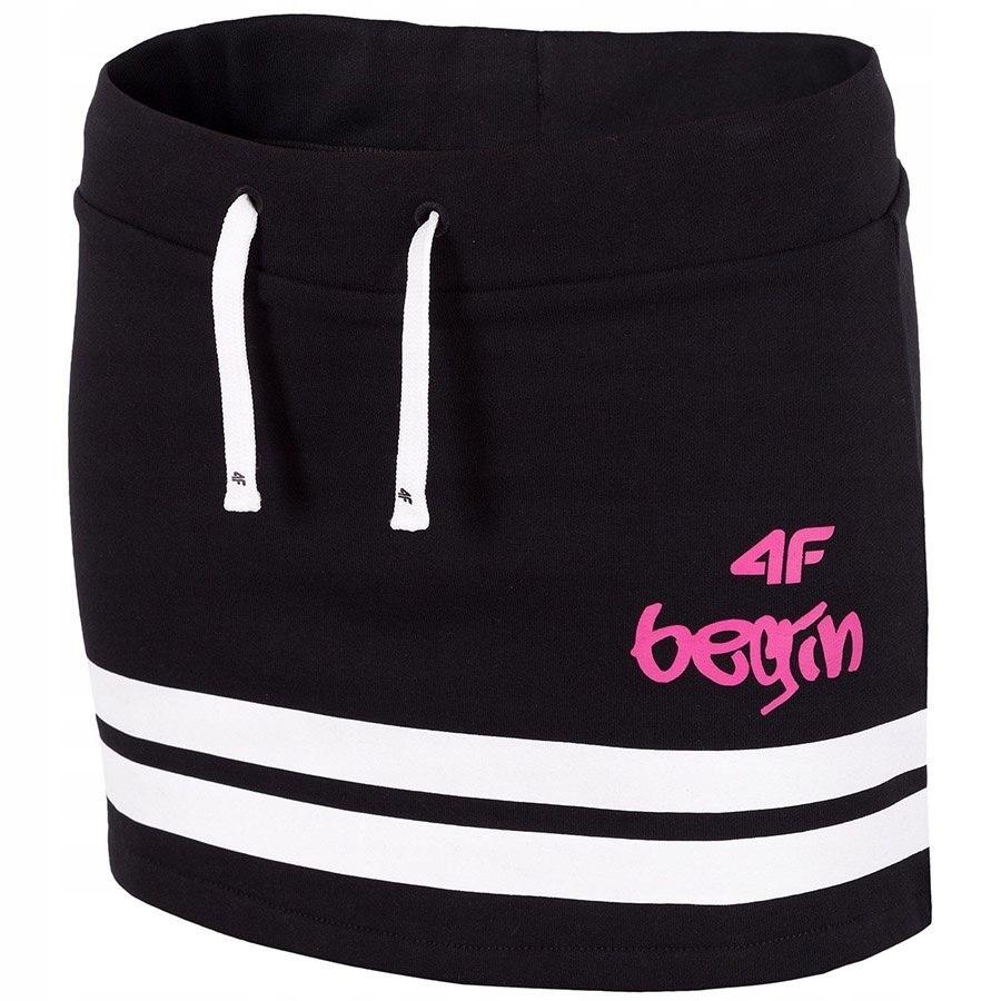 Spódnica dziewczęca 4F JSPUD201 czarna 152cm