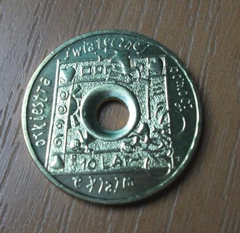 moneta 2zł, X lat WOŚP, stan menniczy, 2003r.