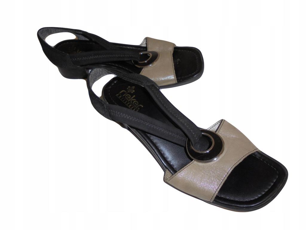 Skórzane sandały Rieker. Stan idealny. Rozmiar 40.