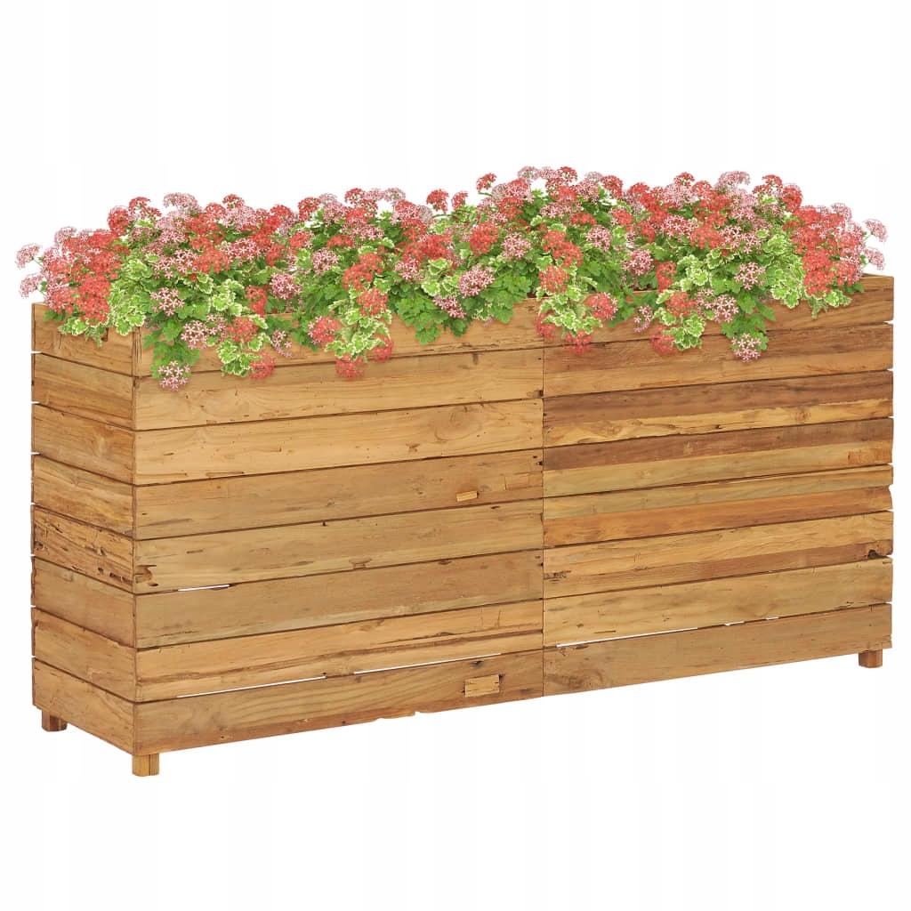 Donica, 150 x 40 x 72 cm, drewno tekowe z recyklin