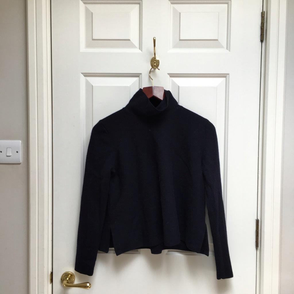 COS sweter wełna granatowy s/m