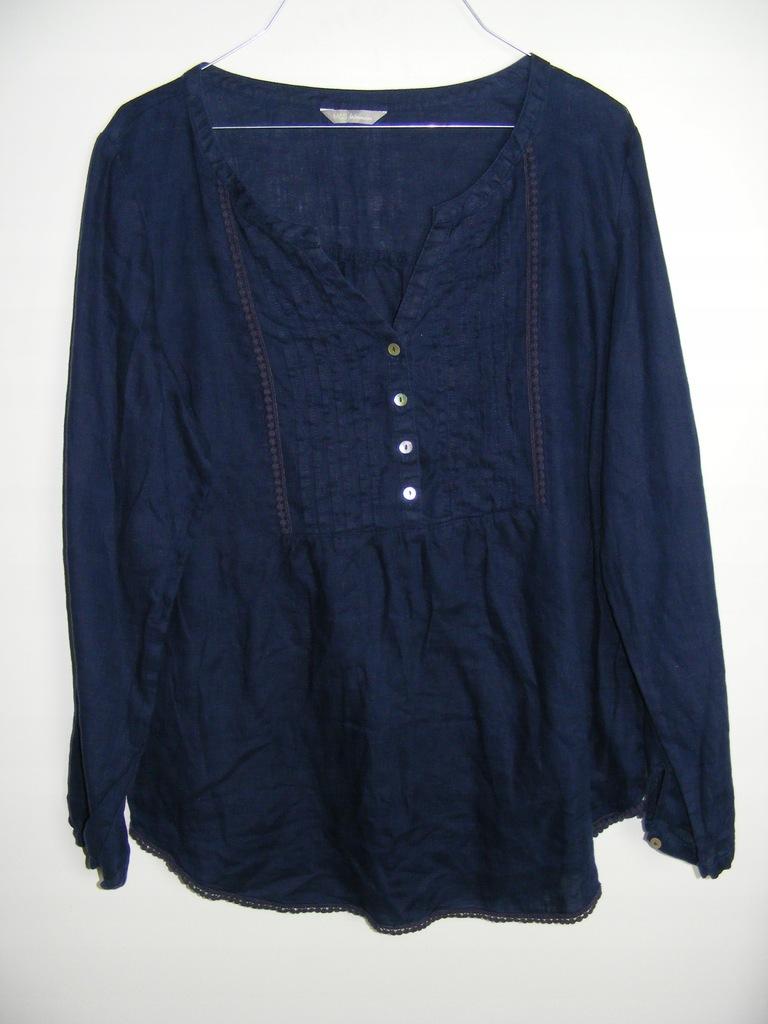 MARKS&SPENCER lniana koszulowa bluzka R 44