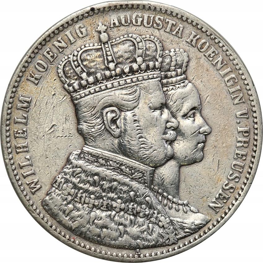 Niemcy Prusy TALAR 1861 A koronacja st.3
