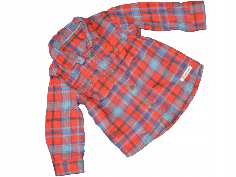 H13 MOTHERCARE koszula w kratkę 3/6 mies