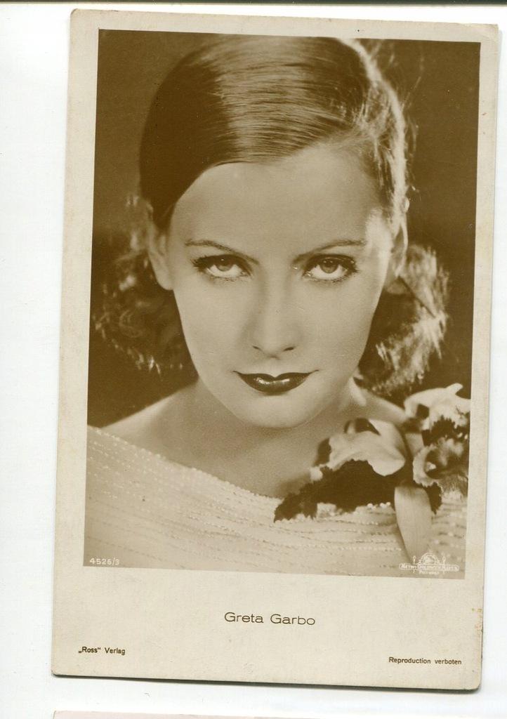 Greta Garbo Kino Film Aktorka Foto Pocztówka 63