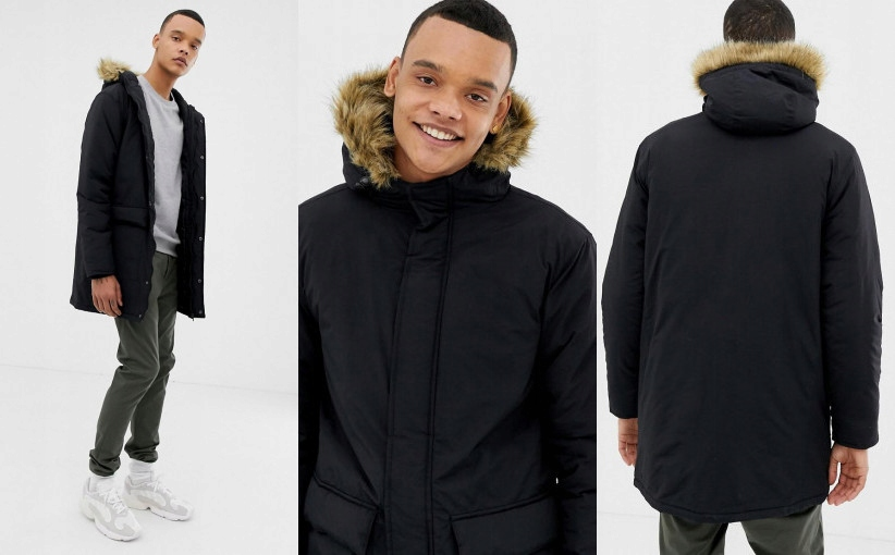 S6C103*FRENCH CONNECTION TALL KURTKA PARKA M P00