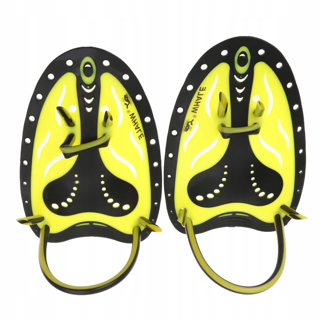 1 para łyżek ręcznych - L. - Żółty