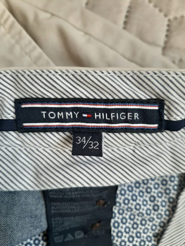 Spodnie męskie Tommy Hilfiger chinosy roz. 34/32
