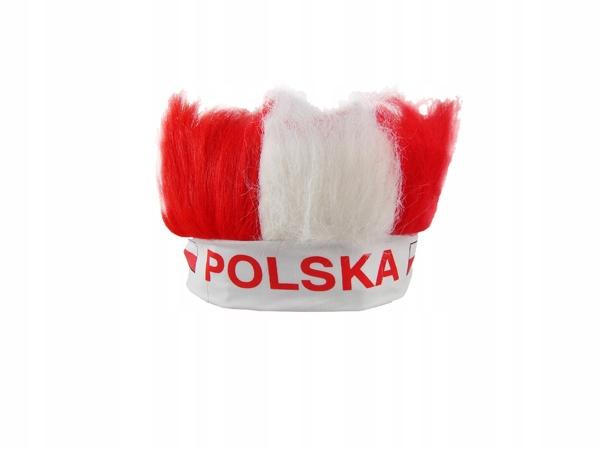 R92 OPASKA gadżet KIBICA z WŁOSAMI napis POLSKA