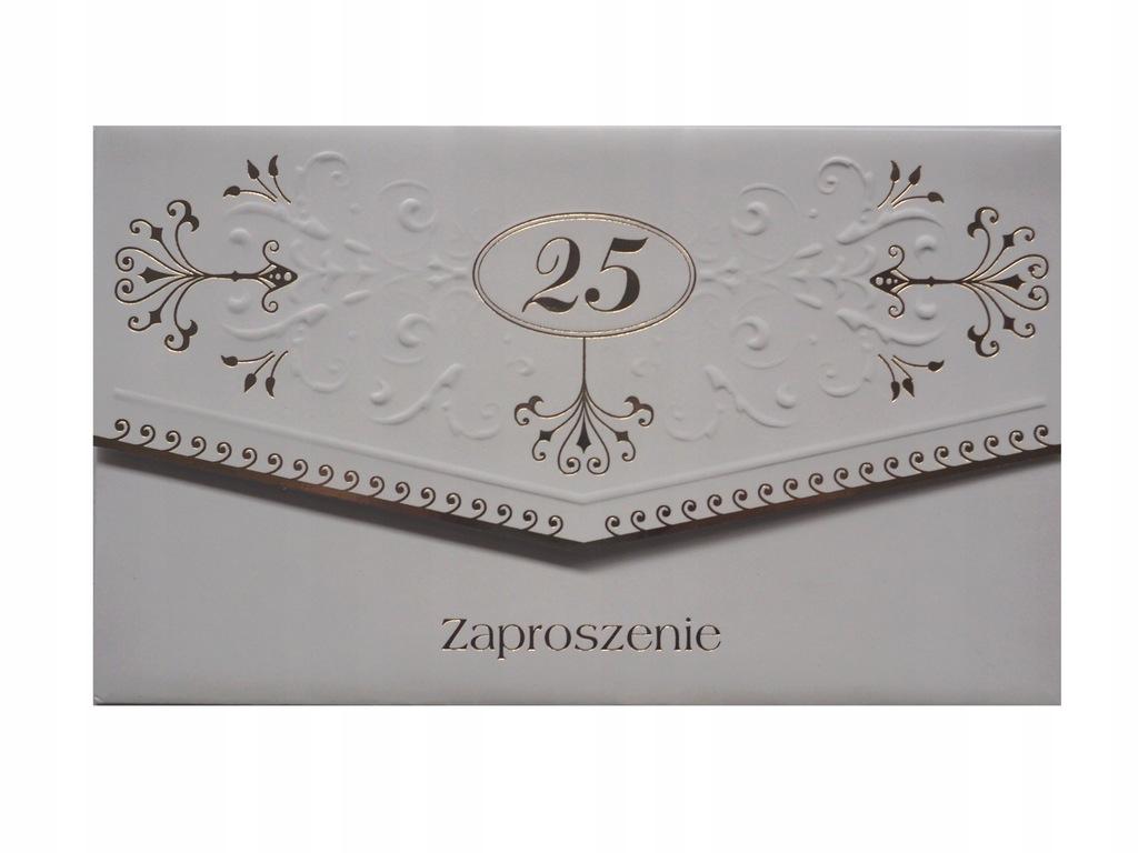 zaproszenia na uroczystość 25 rocznicy ślubu 10szt