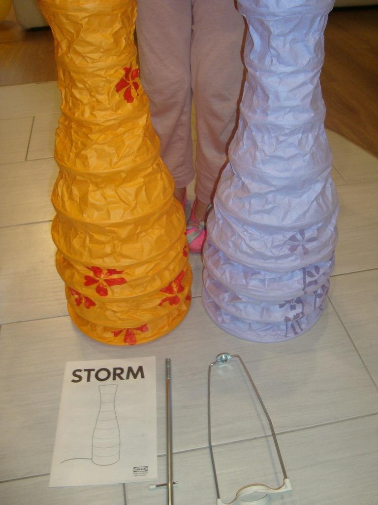 bialy klosz do lampy ikea storm