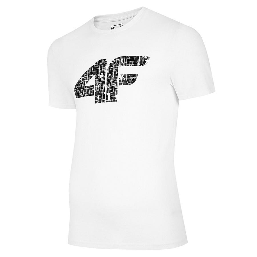 T-Shirt 4F H4L20-TSM012 10S biały L!