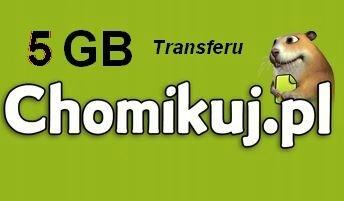 Kod Chomikuj pl 5 GB x 3 szt. Pakiet