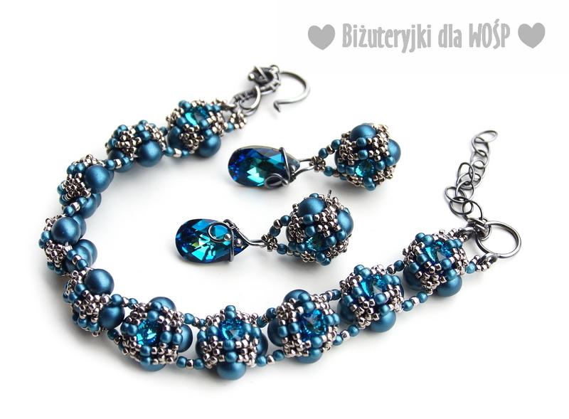 02 - BLUE DREAM-BRANSOLETKA I KOLCZYKI-Biżuteryjki