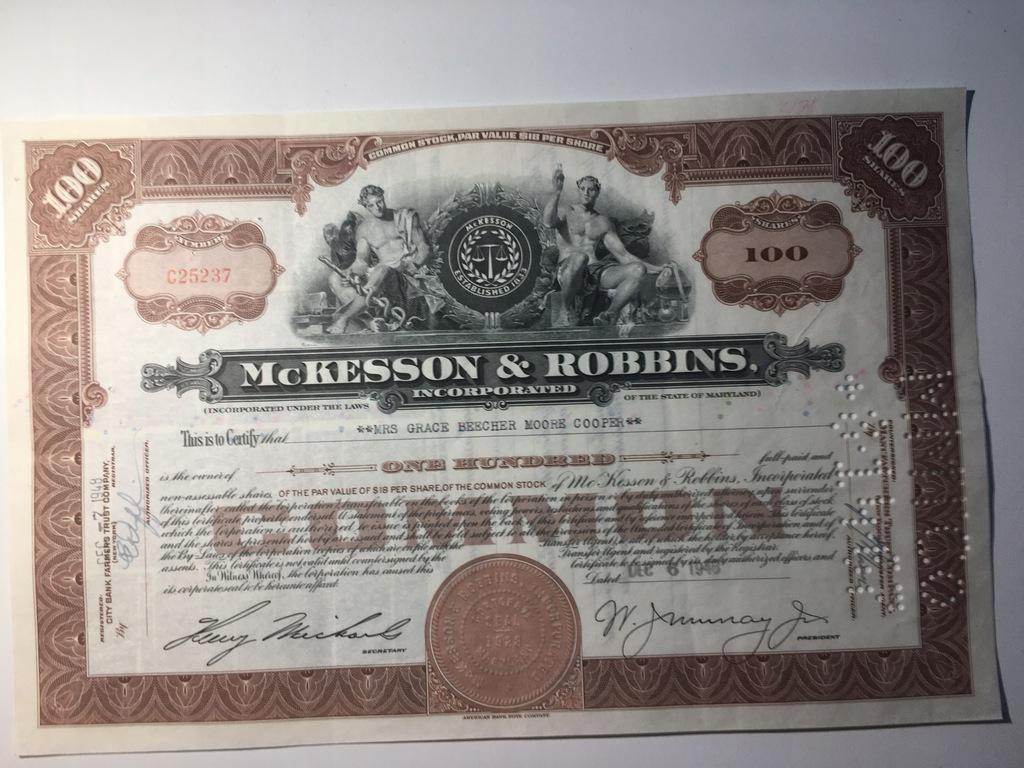 McKESSON & ROBBINS - 1948