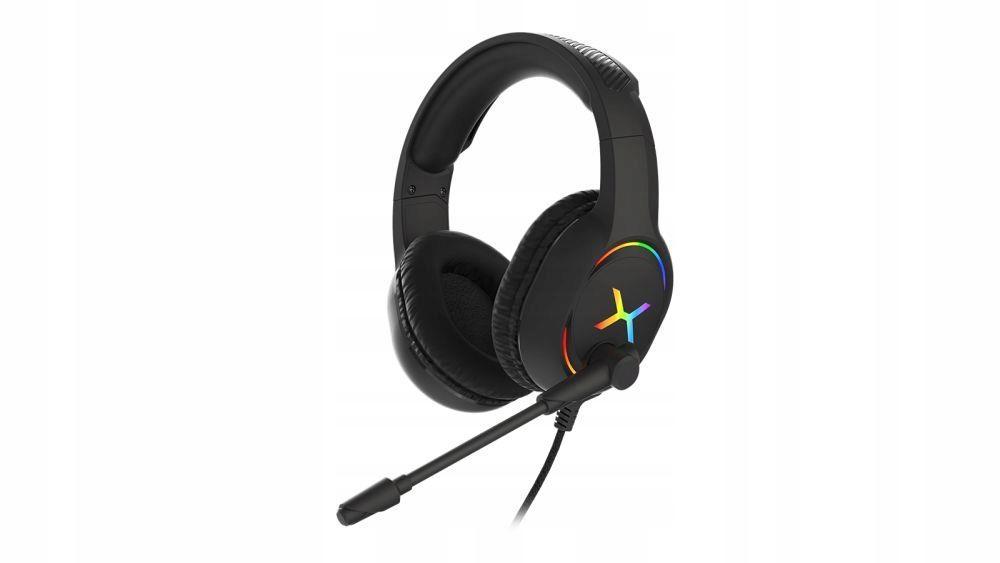 Słuchawki z mikrofonem KRUX Clankz czarne