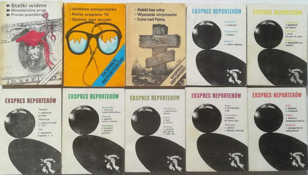 10x Ekspres Reporterów 1977 1979 1983 1989