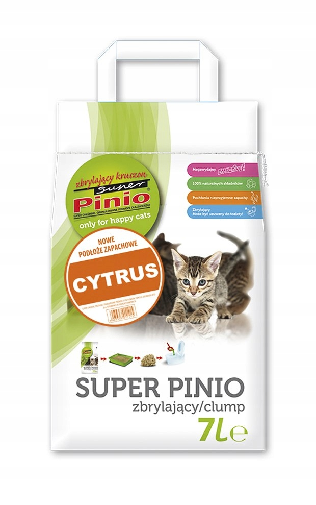 SUPER PINIO Zbrylający Kruszon Cytryna 7l