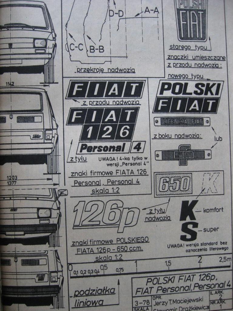 MODELARZ Polski Fiat 126p Plan 1978