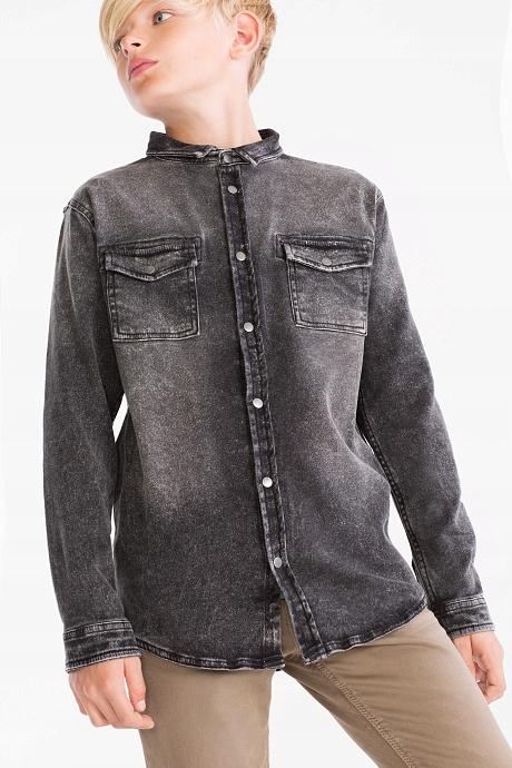 C&A grubsza koszula jeans ubrana raz 146 - 152