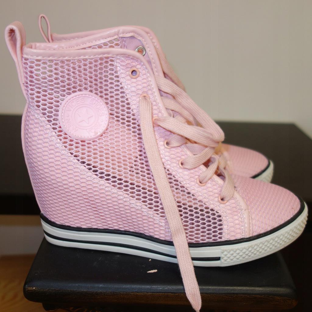Vinces sneakersy buty koturna VI38MT
