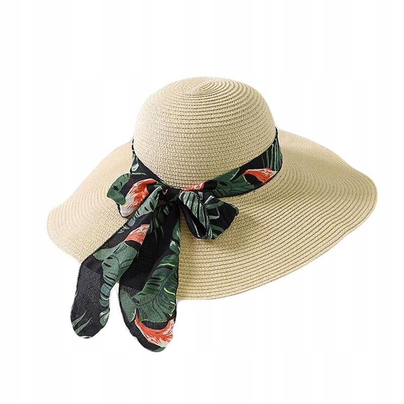 Kapelusz damski Sun Hat Bow Ribbon Panama Beach C