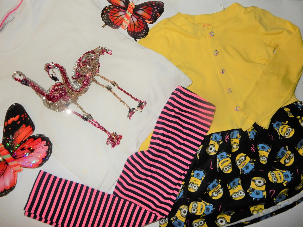 spódniczka,leginsy ,2x bluzeczka 116