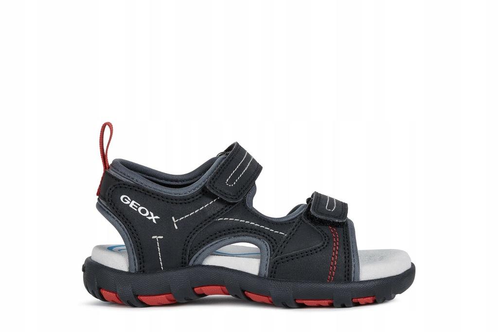 GEOX J0264A PIANETA czarne sandały rozm 37