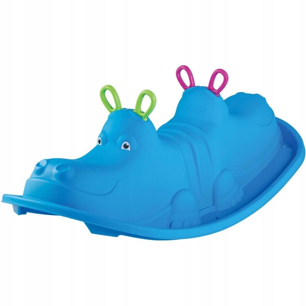 Huśtawka dla dzieci Hippo103.5x45.5x30.5 niebieska