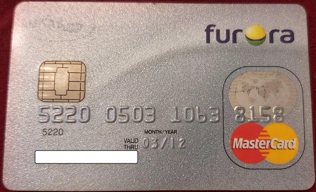 Karta MasterCard Furora LUKAS Bank