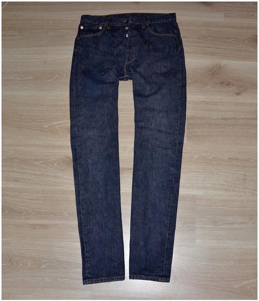 Levis 501 jeans spodnie meskie W30 L34 Pas-80 cm.