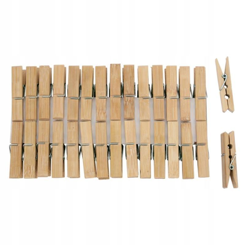 Klamerki drewniane do bielizny 30szt x 6cm