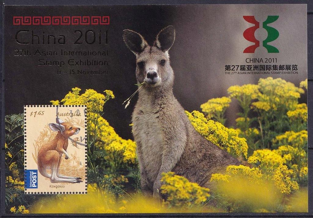 AUSTRALIA Mi bl.133 Zwierzęta, MWF CHINA 2011
