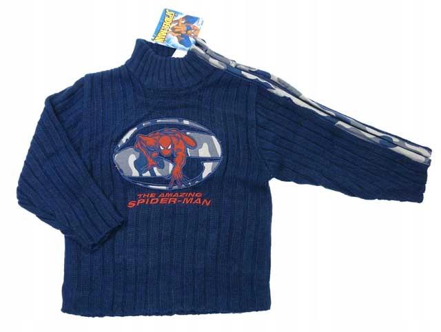 bas06 Sweterek chłopięcy Spider-man 2lata 86 WYP