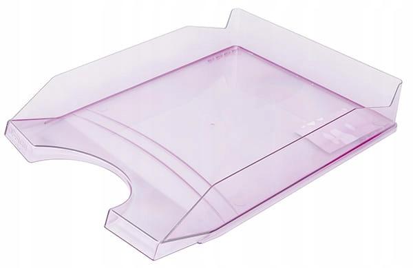 Szufladka na biurko transparentna fioletowa A4