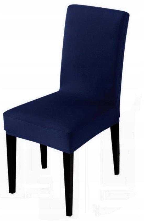 POKROWIEC krzesło GRANATOWY ELASTYCZNY do jadalni