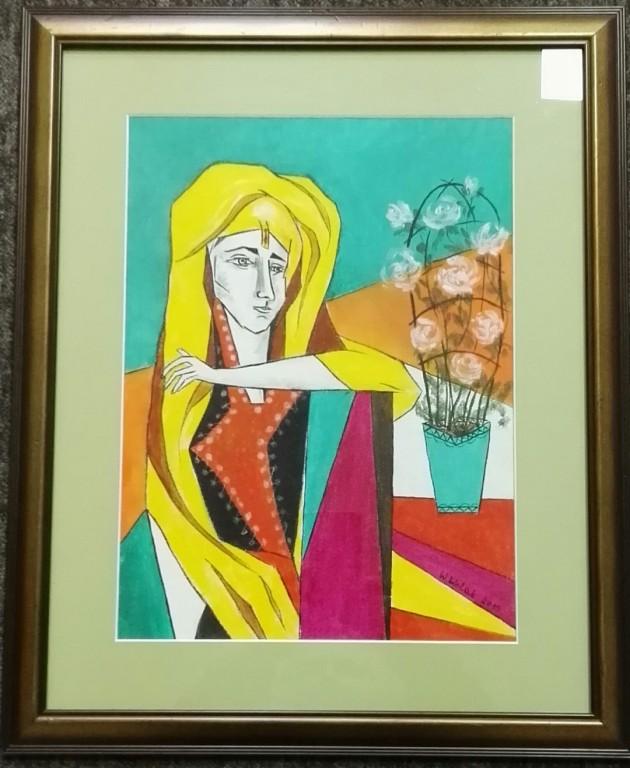 """Obraz """"Kobieta"""" autorstwo Wanda Wolak (akryl)"""