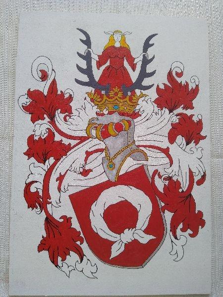 HERB SZLACHECKI NAŁĘCZ , 21 x 30 cm ( wzór )