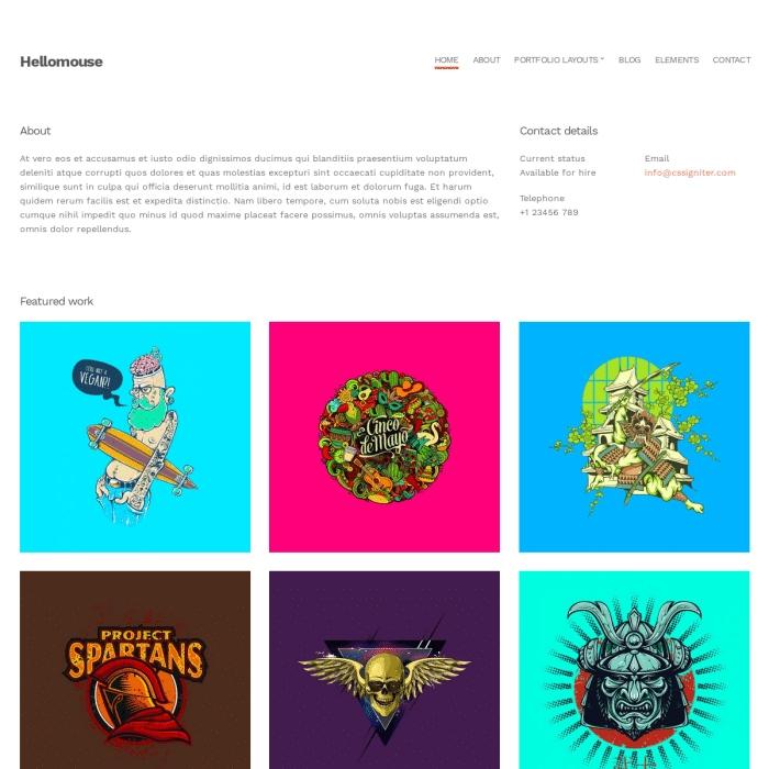 Szablon Hellomouse Portfolio WordPress Theme