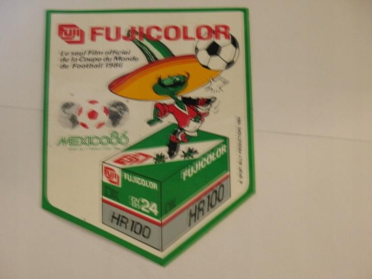 MEXICO MISTRZOSTWA ŚWIATA 86 Sponsor FUJI naklejka