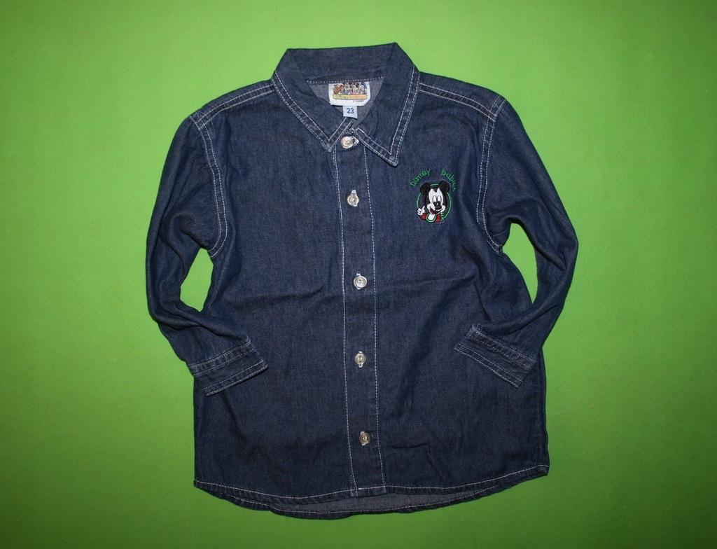 DISNEY stylowa JEANSOWA koszula 98 MYSZKA MICKEY