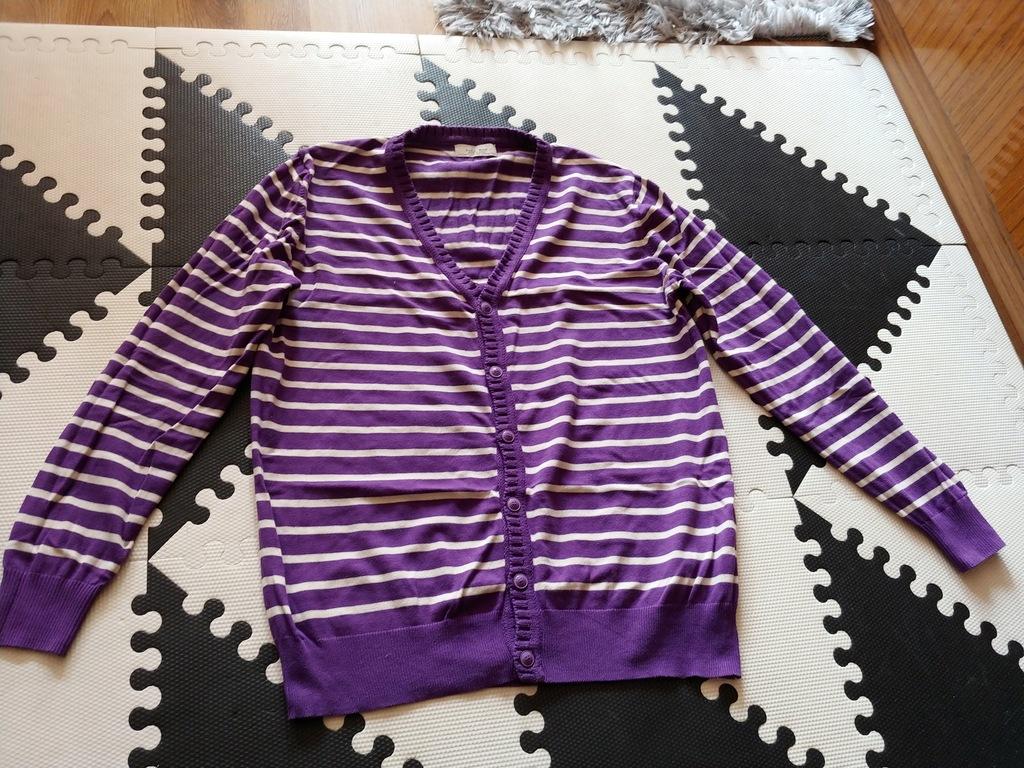 ZARA MEN sweter paski rozpinany bawełna XL bdb