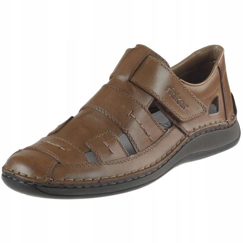 Brązowe Sandały Wsuwane Rieker 05287 buty R.41
