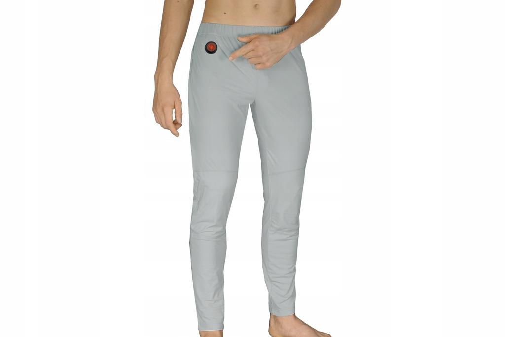 Ogrzewane termoaktywne spodnie szare GLOVII XL