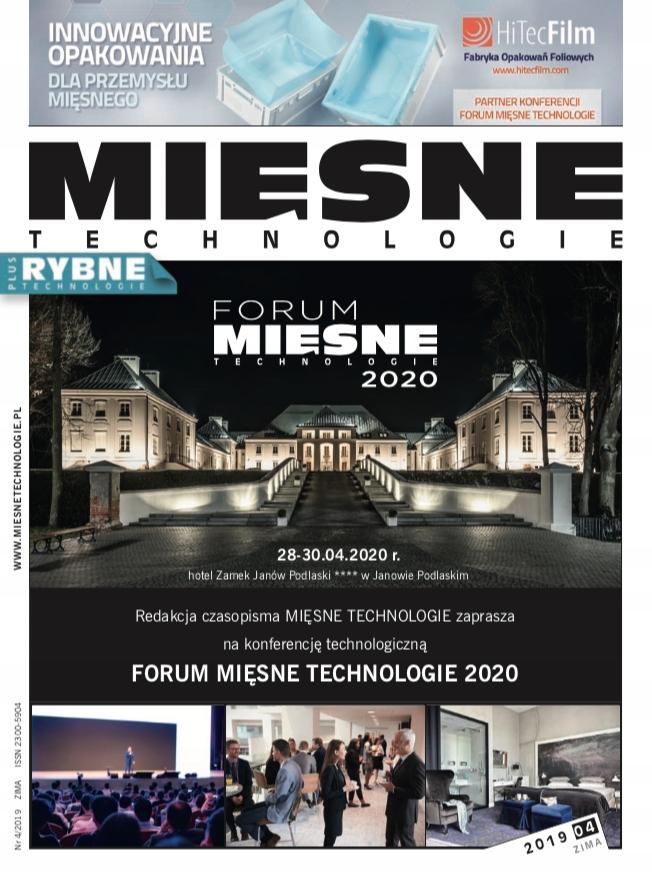 CZASOPISMO MIĘSNE TECHNOLOGIE - NR 4/2019 (ZIMA)