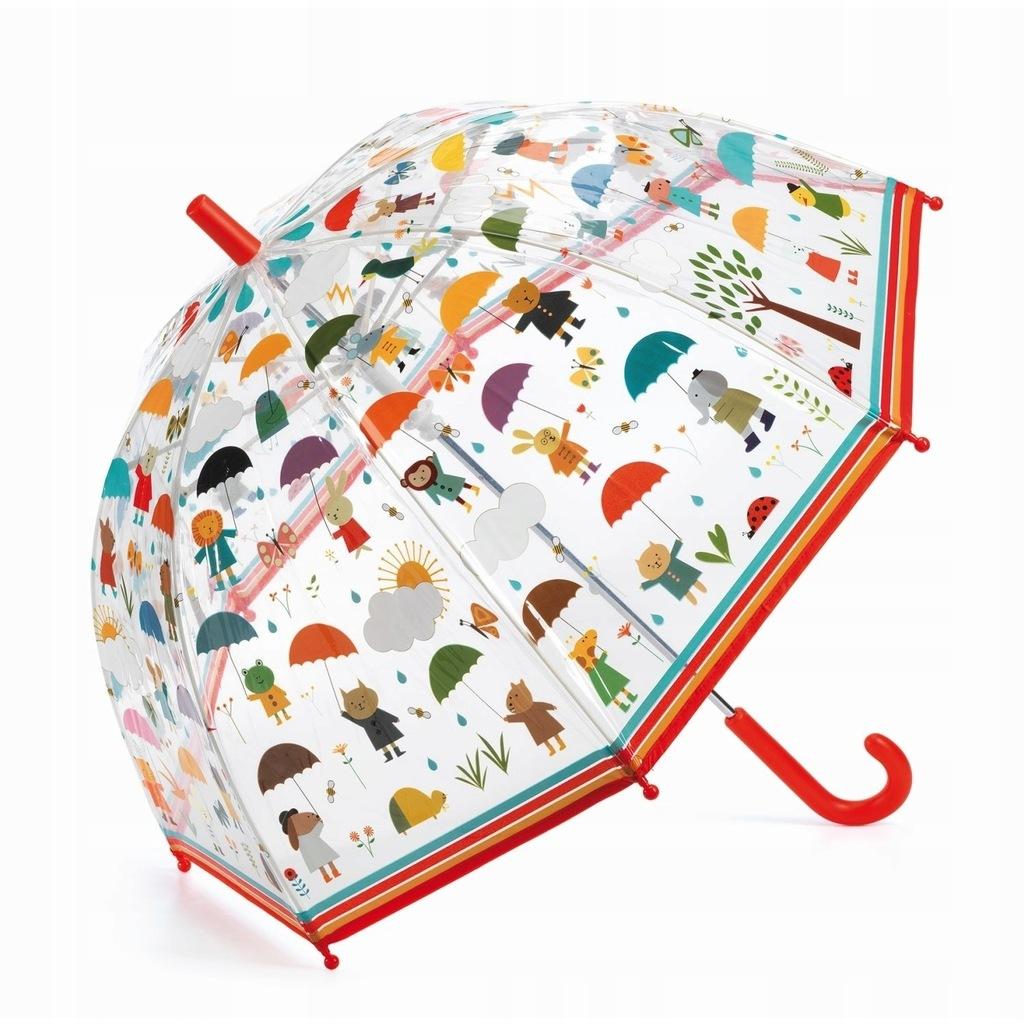 Parasol przeciwdeszczowy w deszczu - Djeco