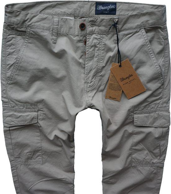WRANGLER spodnie BOJÓWKI beżowe zwężane W28 L32