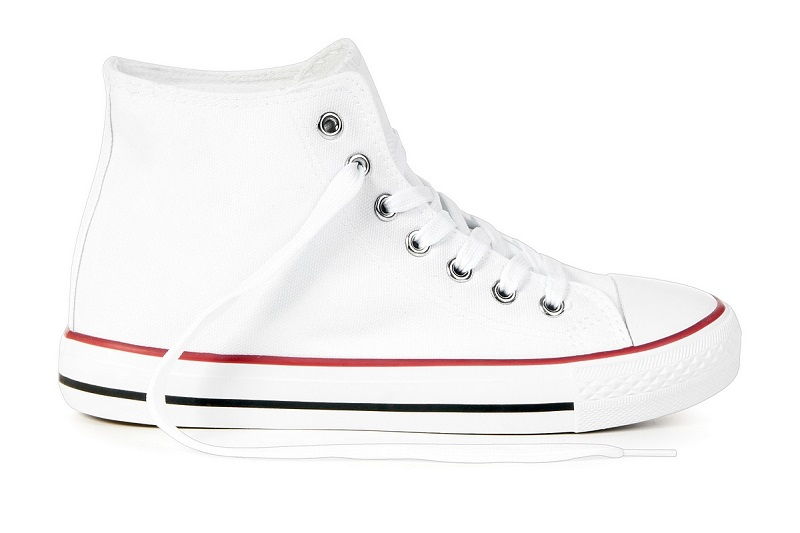 Buty dziecięce Białe TrAmPki Tenisówki WySoKiE 33